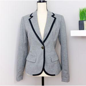 Merona Gray Wool Blend Fitted Blazer Sz 10